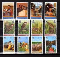 Swaziland 1983-95, Roi Mswati,« Bec-de-cire», F.A.O., 618/621-622/25- 642/645**, Cote 16,50 € - Swaziland (1968-...)