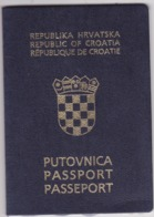 PASSPORT  --   CROATIA  --   II.   MODEL  --  2002  --  LADY  --  VISA UNITED STATES - Historische Dokumente
