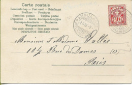 "Cachet Ambulant "" Bellinzona-Mesocco"" Sur Carte Postale - 1882-1906 Armoiries, Helvetia Debout & UPU"