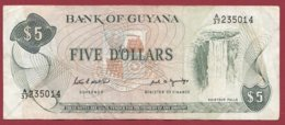 Guyana 5 Dollars 1966/92 (Sign 7) Dans L 'état (208) - Guyana