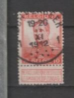 COB 111 Oblitération Centrale SCHAERBEEK 1 - 1912 Pellens