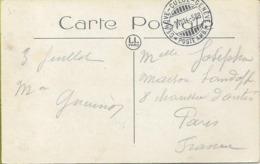 """Cachet Ambulant """" GENEVE-CULOZ-GENEVE"""" Sur Carte Postale  Au Recto : Sur Timbre - Suisse"""