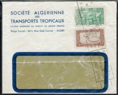 Algérie - Société Algérienne Des Transports Tropicaux Alger - Affr. à 0.90 F Sur Enveloppe - Oblitération Flamme - B/TB. - Covers & Documents