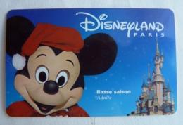 BILLET D'ENTREE CARTE PASS WALT DISNEY PARC EURODISNEY 002 DISNEYLAND PARIS Basse Saison MICKEY - Tickets - Vouchers
