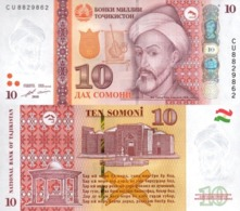 Tajikistan  10 Somoni 2018  P 24 C  UNC - Tadzjikistan