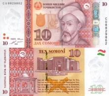 Tajikistan  10 Somoni 2018  P 24 C  UNC - Tadjikistan