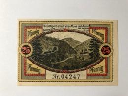 Allemagne Notgeld Grafenroda 25 Pfennig - [ 3] 1918-1933: Weimarrepubliek