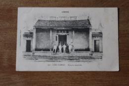 Carte Postale Ancienne Chine  LONG TCHEOU   Village  Les Douanes Impériales  Avec Coloniaux Français - China