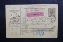 ROUMANIE - Bulletin De Colis Postal De Bucarest Pour Constantinople En 1916 - L 46497 - Entiers Postaux