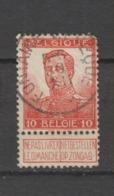 COB 111 Oblitération Centrale FONTAINE-L'EVEQUE - 1912 Pellens