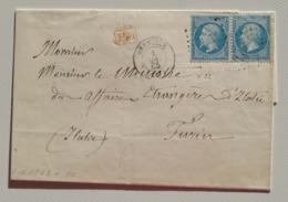 Scritto Da Grenoble Per Torino - 01/05/1865 - Postmark Collection (Covers)