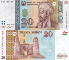 Tajikistan  20 Somoni 2018  P 25 C  UNC - Tadjikistan