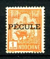 """INDOCHINE  127 - 1c Orange Laboureur - Surchargé """"PECULE"""" - Neuf Sans Gomme - Très Beau - RARE. - Neufs"""