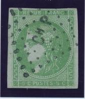 """5 C Vert N° 42 Obl Ambulant """"Ch P"""" TB. - 1870 Ausgabe Bordeaux"""