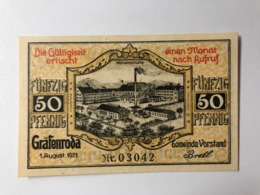 Allemagne Notgeld Grafenroda 50 Pfennig - Collections