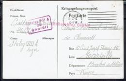 Fr - Prisonnier De Guerre - Postkarte Accusé De Récèption De Colis - Stalag VIII A Gorlitz - Corresp Pour Marseille. - WW II