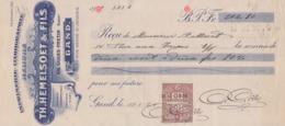 1924: Wissel Van / Traite De ## Th. HEMELSOET & Fils, Rue Neuve St.Jacques, 20, GAND ## Aan/à ## Mr. P. MEERT, Rue ... - Imprimerie & Papeterie