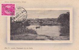 POSTAL ANGOLA - LUNDA - PASSAGEM DO RIO CUILO - (Ed. Almeida Sousa & Cª, Nº7) - Postcard - CPA - RARE !! - Timbre Republ - Angola