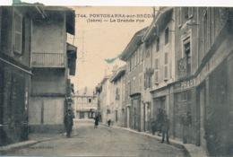 I158 - 38 - PONTCHARRA-SUR-BREDA - Isère - La Grande Rue - Pontcharra