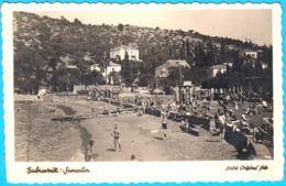 DUBROVNIK - SUMARTIN ... Kupaci Na Plazi ( Croatia ) * Not Travelled * Real Photo * By Ljubo Tosovic, Dubrovnik - Croatie