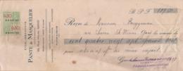 1937: Wissel Van / Traite De ## Établ. PANTE & MASQUELIER, Rue Haute, 26, GAND ## Aan/à ## Mr. BRUGGEMAN, Rue ... - Électricité & Gaz