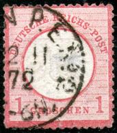 Germany,1872,Large Eagle,Mi#19,Scott#17,13½ : 14¼,cancell:,02.11.1874,as Scan - Oblitérés