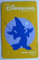 BILLET D'ENTREE CARTE PASS WALT DISNEY PARC EURODISNEY 019 DISNEYLAND MICKEY - Tickets - Vouchers