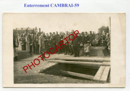 CAMBRAI-Enterrement-Cimetiere-CARTE PHOTO Allemande-Guerre 14-18-1WK-France-59-Militaria- - Cambrai