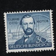 1952 25. Juli Nikolaus Otto Mi DE 150 Sn DE 688 Yt DE 35 Sg DE 1076 AFA DE 1114 Ungebr. O. Gummierung X - Oblitérés