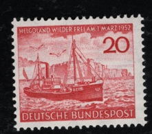 1952 6. Sept. Helgoland Mi DE 152 Sn DE 690 Yt DE 37 Sg DE 1078 AFA DE 1112 Postfr. Xx - Ungebraucht