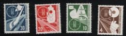 1953 20. Juni Verkehrsausstellung Mi DE 167 - 70 Sn DE 698 - 701 Yt DE 53 - 56 Sg DE 1093 - 96 Postfr. Xx - [7] République Fédérale