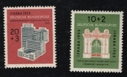 1953 29. Juli  IFRABA  Mi DE 171 - 72 Sn DE B332 - 33 Yt DE 57 - 58 Sg DE 1097 - 98 AFA DE 1134 - 35 Postfr. Xx - Unused Stamps