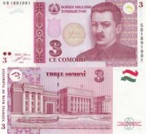 Tajikistan  3 Somoni 2010  P 20  UNC - Tadzjikistan