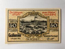 Allemagne Notgeld Grafenroda 50 Pfennig - [ 3] 1918-1933: Weimarrepubliek