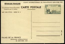 France  Entier Postal  N° 426 CP1  VARIETE  De Couleur  Timbre Vert-noir  Neuf - Biglietto Postale
