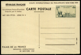 France  Entier Postal  N° 426 CP1  VARIETE  De Couleur  Timbre Vert-noir  Neuf - Postwaardestukken