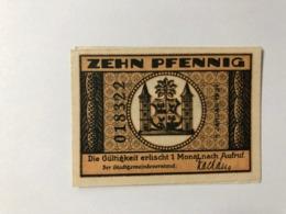 Allemagne Notgeld Jlmenau 10 Pfennig - [ 3] 1918-1933: Weimarrepubliek