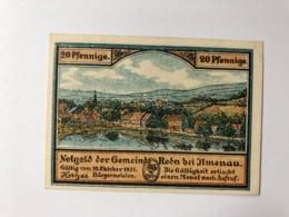 Allemagne Notgeld Jlmenau 20 Pfennig - [ 3] 1918-1933: Weimarrepubliek