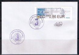 Atm, CC 0.86€, BROTHER, FACTEUR DES ANNEE 1950, MUSEE DE LA POSTE, 73éme Salon D'automne, 1er Jour, 7/ 11/ 2019. - 2010-... Vignettes Illustrées