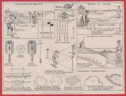 Arpentage: Nivellement, Topographie. Larousse 1931. - Documenti Storici
