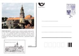 Czech Republic 1994 Postal Stationery Card: Architecture Castle Lion Eagle; ČESKY KRUMLOV A02/94 - Architecture