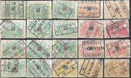 _9Sp-939:restje 20zegels: 3de Uitgifte ..om Verder Uit Te Zoeken. - 1895-1913