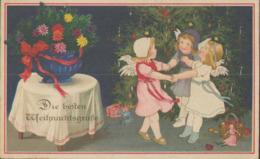 Fröhliche Weihnachten, Engel Tanzen Am Christbaum, Künstler-Postkarte, Weihnachtsgrüße, Feiern & Feste - Noël