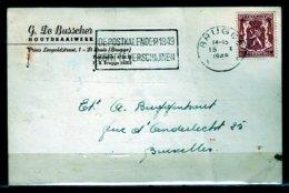 Kaart Van Brugge X Naar Bruxelles - 1935-1949 Petit Sceau De L'Etat