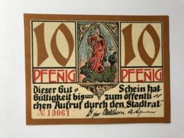 Allemagne Notgeld Kahla 10 Pfennig - [ 3] 1918-1933: Weimarrepubliek