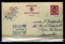 Postkaart Van Brugge X Naar Bruxelles - 1935-1949 Petit Sceau De L'Etat
