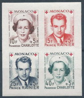MONACO 1949 YT N°334B à 337B - Feuillet De 4 Timbres Croix Rouge Princesse Charlotte Et Prince Rainier - Neuf** TTB Etat - Monaco