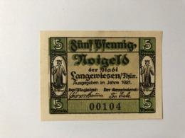 Allemagne Notgeld Langewiesen 5 Pfennig - [ 3] 1918-1933: Weimarrepubliek