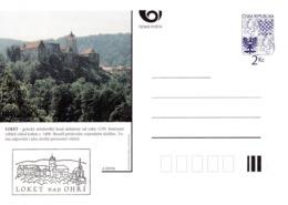 Czech Republic 1994 Postal Stationery Card: Architecture Castle Lion Eagle; LOKET A09/94 - Architektur