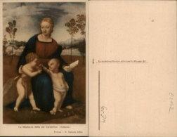 LA MADONNA DETTA DEI CARDEILINO-RAFFAELLO PAINTING,FIRENZE,ITALY POSTCARD - Malerei & Gemälde